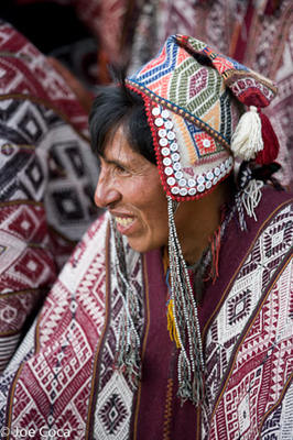 Men weavers and knitters will wear their best work to Tinkuy.