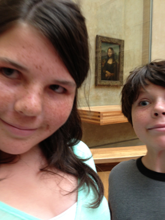 Delian and Guerdon and the Mona Lisa.