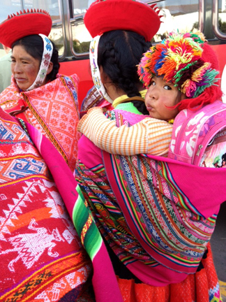 The weaving life starts at a young age in Peru.