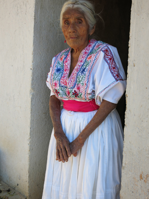 An abuela in the village of Solaga – one of only three or four women in town who still dress traditionally.