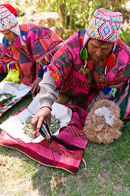 Tinkuy will open with a blessing of coca leaves by Q'eros shamans.