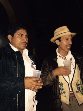 Headmen from the village of Huixtan, hearing a naughty joke about a chorizo.