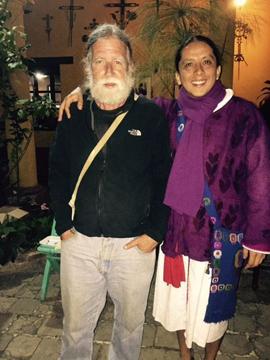 Author Chip Morris with Maya shaman Apab'yan Tew.