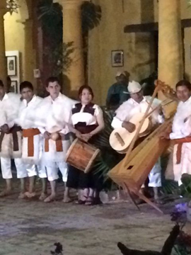 A traditional band from the village of Chamula.